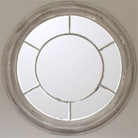 white washed round mirror by decorative mirrors online ...