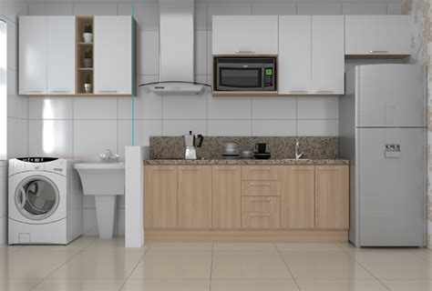 Wibamp.com | Cozinha Planejada Junto Com Lavanderia ...