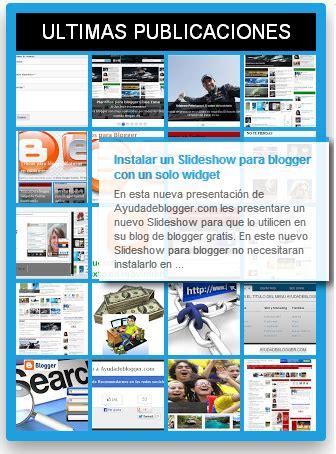 Widgets para blogger Mega widget V2 | Ayuda de Blogger