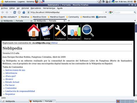 Wikipedia sin internet con Neblipedia