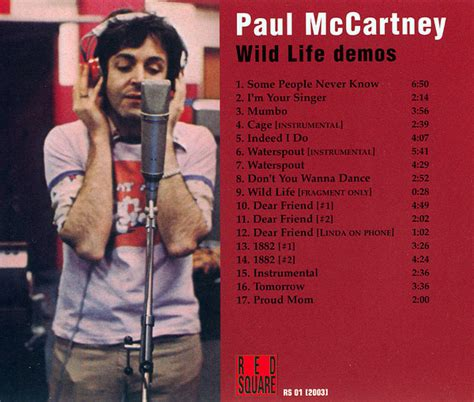 Wild Life Demos (Unofficial album) by Paul McCartney - The ...