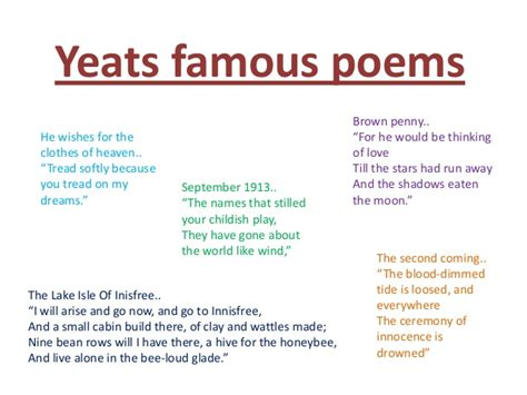 William butler yeats english project