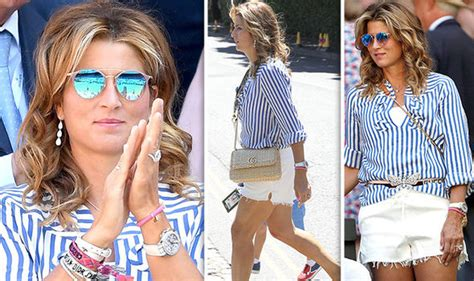 Wimbledon 2018: Roger Federer's wife Mirka flaunts pins in ...