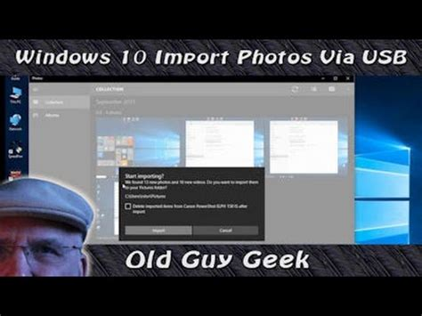 Windows 10 Import Photos From Camera Via USB   YouTube