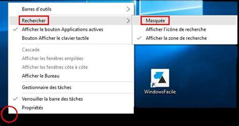 Windows 10 : supprimer la barre de recherche ...