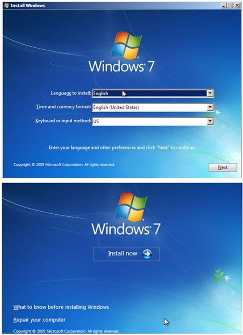 Windows 7 installation, Installing Windows 7, Install ...