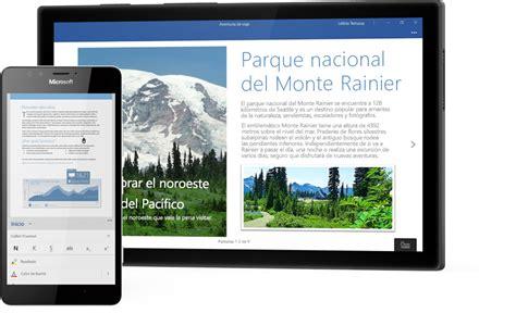 Windows mobile y aplicaciones para celular como Word o Excel