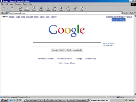Windows NT 4.0: Can t access Google homepage under IE6 ...