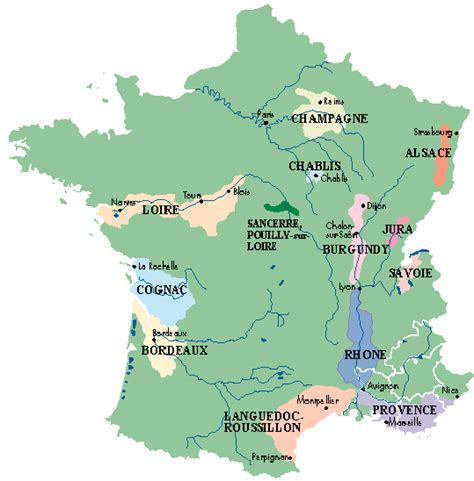 Wine Map France, by Provence Beyond