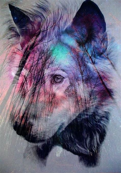 Wolf Galaxy Tumblr Wallpaper