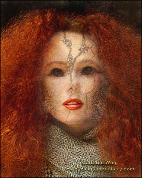 Woman with Red Hair and Monkey Eyes | Wingspan Gallery ...