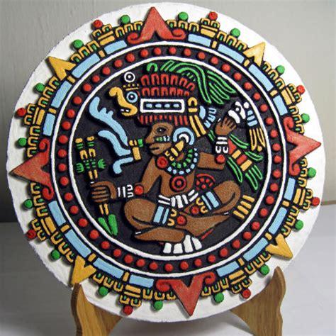 Wooden Aztec Maya Calendars