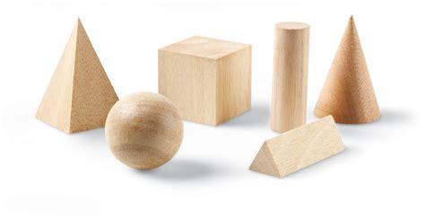 Wooden Geometric Solids Set   Learning Resources