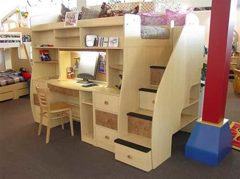 Woodwork Loft Bed With Desk Underneath Plans PDF Plans