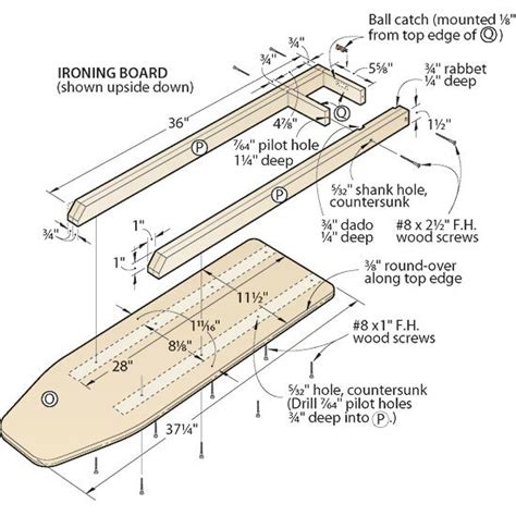 Woodwork Woodworking plans ironing board Plans PDF ...