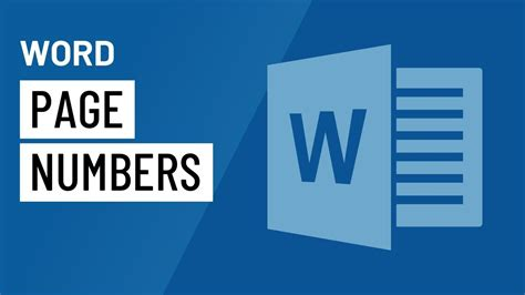Word 2016: Page Numbers - YouTube