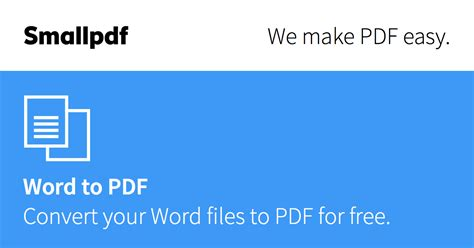 Word to PDF - Convert your DOC to PDF for Free Online