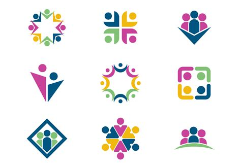 Working Together / Teamwork Logo Vectors   Download Free ...