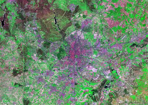 World Cities Satellite Images - Landsat by Geology.com