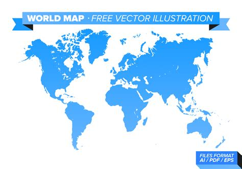 World Map Free Vector Illustration - Download Free Vector ...