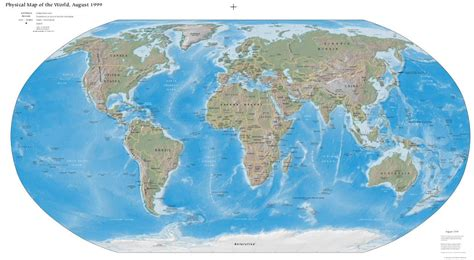World Map (Physical Worldmap - PDF) : Worldofmaps.net ...