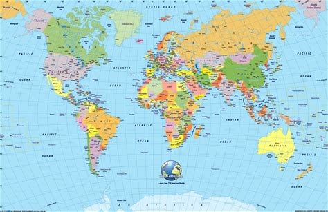 world maps with countries & continent | Seven continents ...