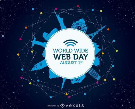 World Wide Web day poster - Free Vector