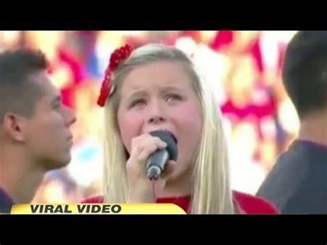 Worst National Anthem Ever? 11-Year-Old Harper Gruzins ...