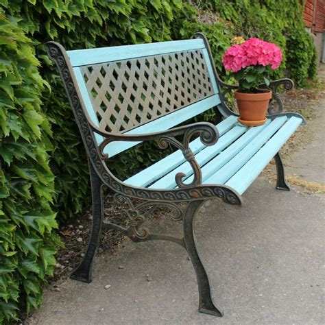 Wrought iron painted garden bench | Outdoor inspirations ...