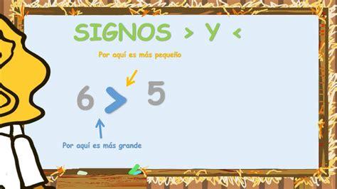www.matecitos.com: 1º Primaria. Ejemplos Signos Mayor y ...