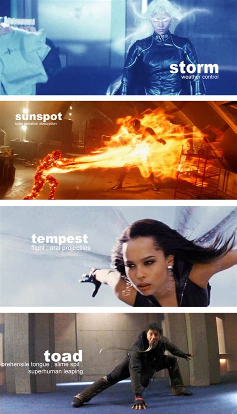 X-Men Movie Characters Superpowers