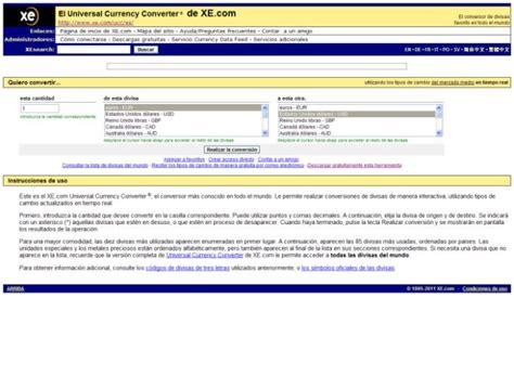 XE Conversor de Divisas Online