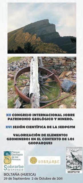 XII Congreso Internacional sobre Patrimonio Geológico y ...