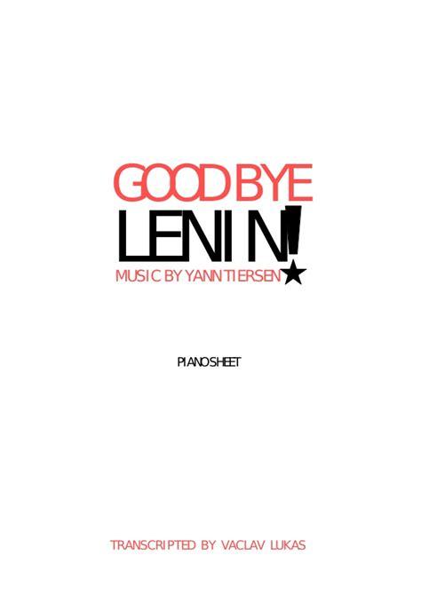 Yann tiersen good bye lenin! sheet colection