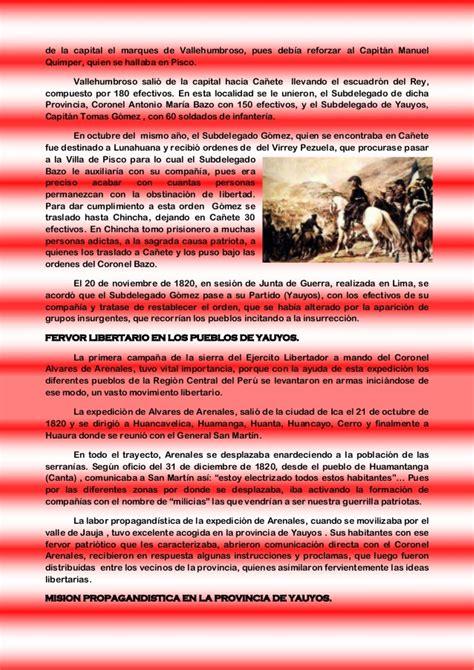 Yauyos en la guerra por la independencia del peru y america