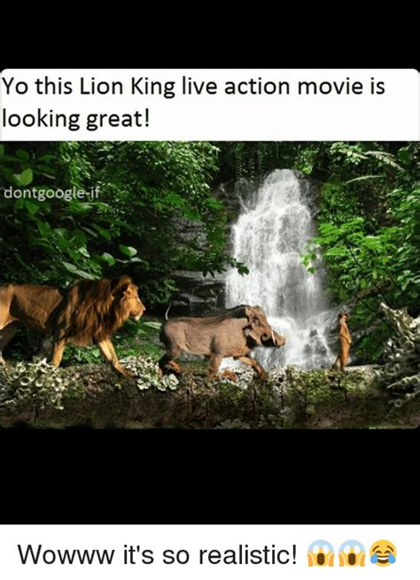 Yo This Lion King Live Action Movie Is Looking Great! Dont ...