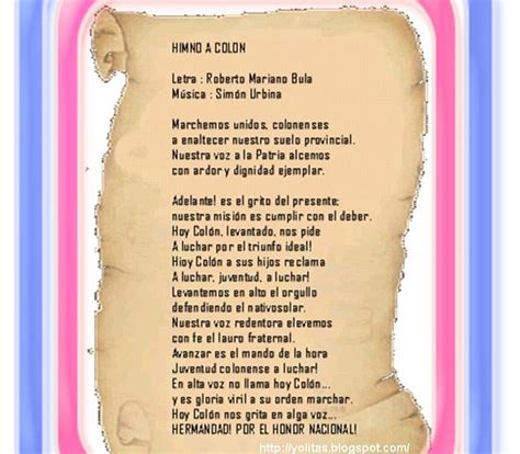 Yolitas Decoraciones: Himno de la Provincia de Colón ...