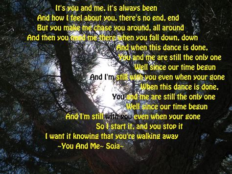 You And Me- Soja | Song lyrics | Pinterest | Its you ...