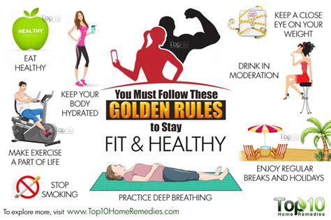You Must Follow These 10 Golden Rules to Stay Fit and ...