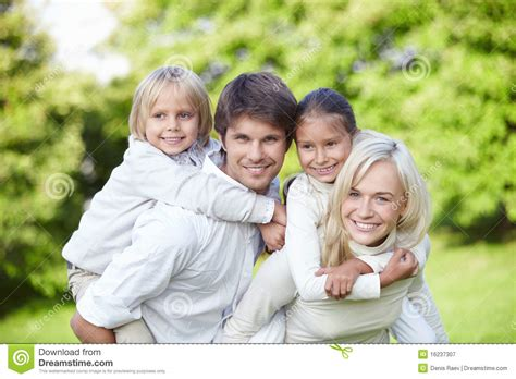 Young Families With Children Outdoors Stock Image - Image ...
