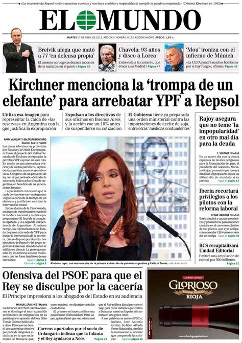 YPF: Tapas de diarios de Argentina y España   Taringa!