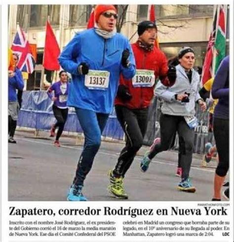 Zapatero de incógnito en una maratón de Nueva York | El ...