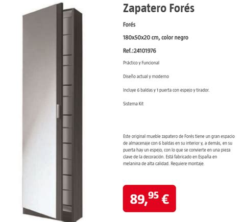 Zapateros del catálogo Bauhaus 2018 | iMuebles