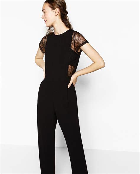 ZARA - WOMAN - CONTRAST LACE JUMPSUIT | formal | Pinterest ...