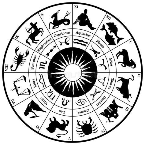Zodiac Horoscope Wheel stock vector. Illustration of icon ...